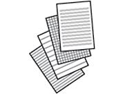 Verrassend Gelinieerd papier afdrukken EG-39